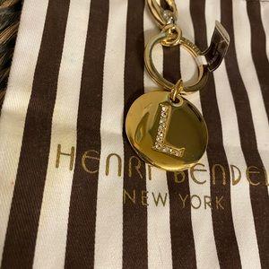 Henri Bendel Letter L keychain New